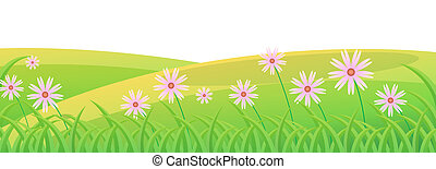 flower and lawn