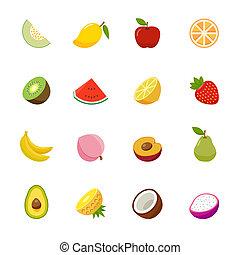jogo, fruta, ícone