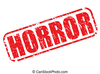 Vector Clipart of Horror Text - The word HORROR in a bloody ...