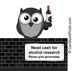 Drink Research - Monochrome comical alcoholic drink research...