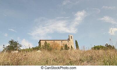 Girifalco Time Lapse - fortress of Girifalco in Cortona,...