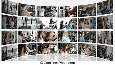 Fitness Centre - Not moving montage presentation of a...