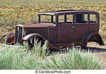 Stranded - Abandoned car in the desert