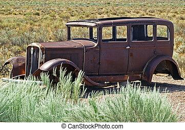 Stranded - Abandoned car in the desert