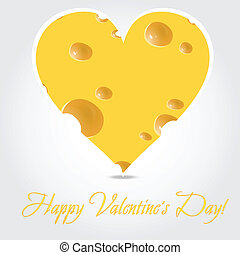 Vector valentines day  - cheese illustration