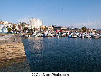 Ferrol pier in a sunny day Ferrol is a small town located in...