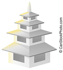 寺院, 古代, 陶磁器, タワー