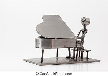 stainless steel Jazz Piano - on white you have and stainless...