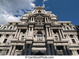 Philadelphia City Hall and Storm Cloud - Philadelphia city...