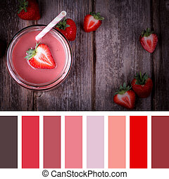 Strawberry smoothie colours - A strawberry smootie in a jar...