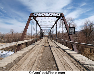 Old Wooden Bridge - Very old wooden bridge in the rural...