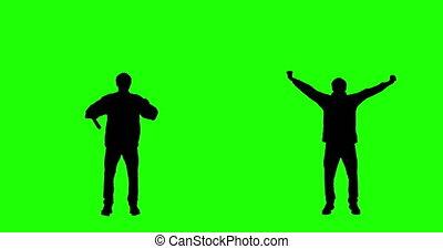 Cheering Fan on Green Screen
