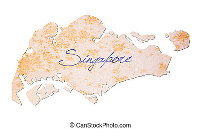 Old paper with handwriting - Singapore - Old paper with...