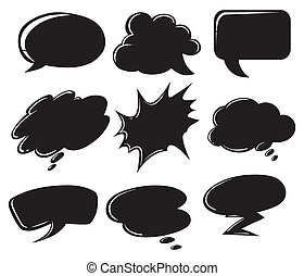 Empty callout templates - Illustration of the empty callout...