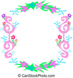 Frame of Flowers, Chains, Spirals, and Leaves