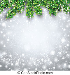 Fir christmas background - Detailed background with fir...