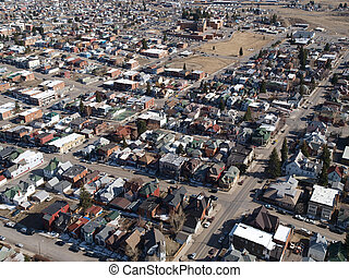 Butte Montana Aerial - Butte Montana aerial Small town...
