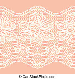 Old lace seamless pattern with ornamental flowers