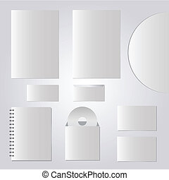 Vector templates set of corporate identity