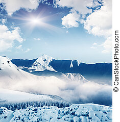 mountain landscape - Fantastic winter landscape and blue sky...