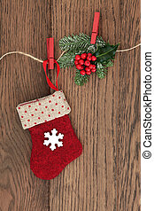Christmas Stocking - Christmas stocking decoration with...