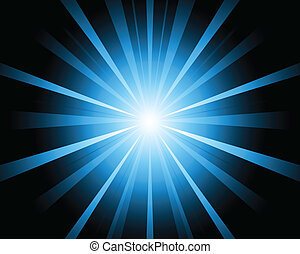 A blue color design with a burst vector