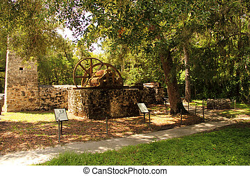 Yulee Sugar Mill Ruins Historic State Park in the city of...