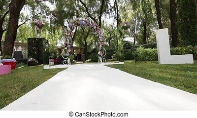 Decorated wedding ceremony