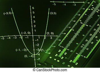 Mathematical background - Abstract dark mathematical...
