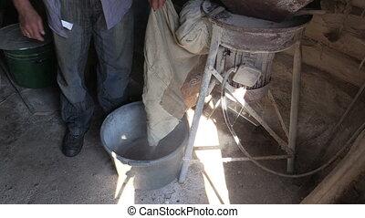 man work village barn