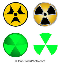 Isolated Symbols of Radiation Vector Illustration. EPS10