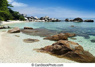 Perhentian Island. - Blue beach at Pulau Perhentian,...