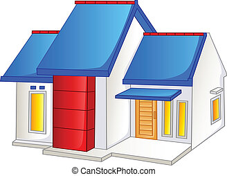 A small house - Vector illustration of A small house