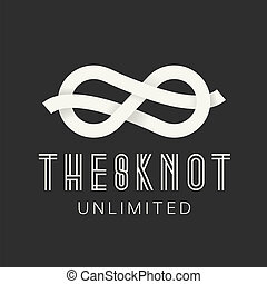 Figure Eight Knot Abstract Vector Concept Symbol Icon on...