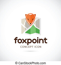 Fox Point Abstract Vector Symbol Icon Isolated