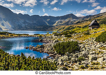Summer in 5 lakes valley in High Tatra Mountains, Poland