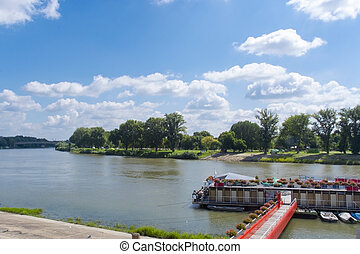Tisza River at Szeged - The Hungarian Tisza River at the...