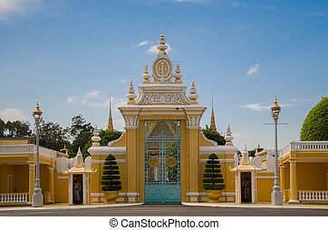 Main gate of Rayal palace - Main gate of Royal palace Phanom...