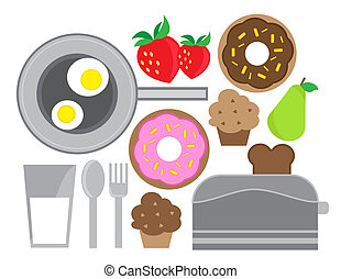 Breakfast - Various breakfast foods