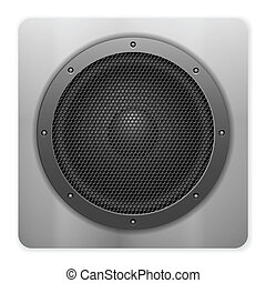 sound speaker icon - Sound speaker on a white background