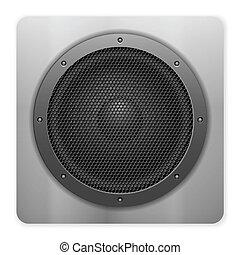 sound speaker icon - Sound speaker on a white background.