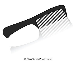 comb - Black comb on a white background