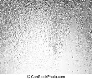 Background water drops abstract wet steam condensation.