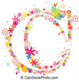 blossomy letter C - blossomy letter c pattern, created by...