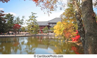 To-ji Temple in Nara Japan - The wooden tower of To-ji...