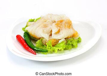 Kanom, sagú, tailandés, postre, polvoriento,...