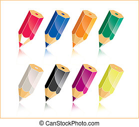 colorful pencil - a colorful pencil pattern
