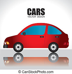 Cars design over white background, vector illustration