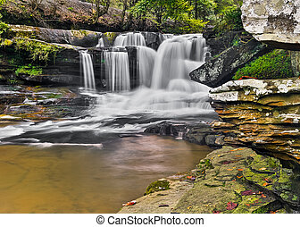 Dunloup Creek Falls - Dunloup Falls on Dunloup Creek is a...