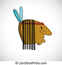 Indian head with brown skin Vector design